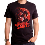 Boondock Saints Smoking Adult T-Shirt Black