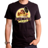 Dinosaurs Not The Mama Adult T-Shirt Crew Black