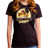 Dinosaurs Not The Mama Junior Women's T-Shirt Crew Black