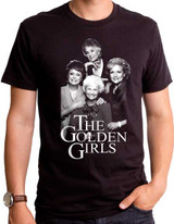 Golden Girls Mono Adult T-Shirt Black