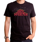 Home Improvement Blue Print Adult T-Shirt Black