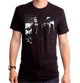 Pulp Ficiton Vincent And Jules Black Adult T-Shirt