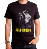 Pulp Fiction Dance Off Adult T-Shirt Black