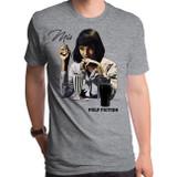 Pulp Fiction Mia Revised Adult T-Shirt Dark Heather Gray