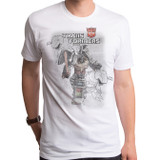 Transformers Grimlock Distressed Adult T-Shirt White