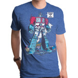 Transformers Optimus Prime Adult T-Shirt Heather Royal
