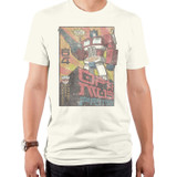 Transformers Asian Optimus Adult T-Shirt Vintage White