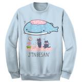 Jinbesan Group Pose Sweatshirt Light Blue