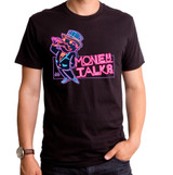 Monopoly Money Talks Adult T-Shirt Black
