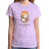 Rilakkuma Double Nyan Nyan Lilac Junior Women's T-Shirt