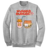 Rilakkuma Nyanko Burger Heather Grey Sweatshirt