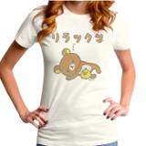 Rilakkuma Bear And Chick Junior Women's T-Shirt Vintage White