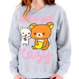 Rilakkuma Let's Get Laxy Junior Women's Sweatshirt Sports Gray