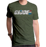 Hasbro GI Joe Retro Logo Adult T-Shirt Heather Green