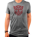 Hasbro Transformers Autobots Logo Simple Adult T-Shirt Tri Grey