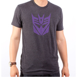 Transformers Decepticon Logo Simple Adult T-Shirt Heather Black
