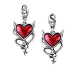 Devil Heart Earrings by Alchemy of England