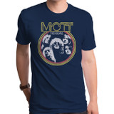 Mott The Hoople Young Dudes Adult T-Shirt Navy