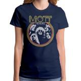 Mott The Hoople Young Dudes Junior Women's T-Shirt Navy