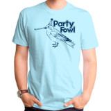 Party Fowl Adult T-Shirt Pacific Blue