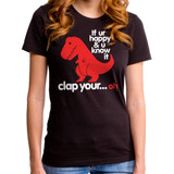 Sad T-Rex Junior Women's T-Shirt Black