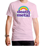 Death Metal Adult T-Shirt Light Pink
