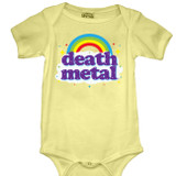 Death Metal Baby Onesie T-Shirt Butter