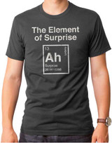 Element of Surprise Adult T-Shirt Charcoal