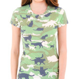 Catmouflage Junior Women's T-Shirt Sublimated