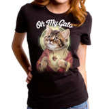 Oh My Gato Junior Women's T-Shirt Black