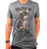 How You Like Meow Adult T-Shirt Triblend Gray