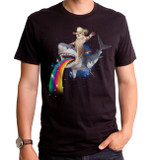 Bucking Sharkaroo Adult T-Shirt Black