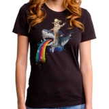 Bucking Sharkaroo Junior Women's T-Shirt Black