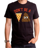 Pizza Poop Adult T-Shirt Black