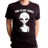 This Place Suck Adult T-Shirt Black