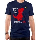 Reach For The Stars Oh Adult T-Shirt Navy