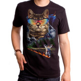 Meow For Freedom Adult T-Shirt Black