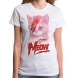 Meow Junior Women's T-Shirt White