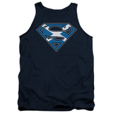 Superman Scottish Shield Adult Tank Top T-Shirt Navy