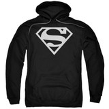 Superman Logo Adult Pullover Hoodie Sweatshirt Black