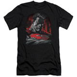 Superman Man Of Steel Adult 30/1 T-Shirt Black