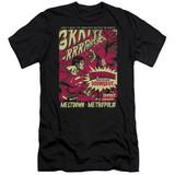 Superman Metropolis Meltdown Premium Canvas Adult Slim Fit 30/1 T-Shirt Black