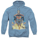 Superman 224 Cover Adult Pullover Hoodie Sweatshirt Carolina Blue