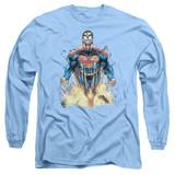 Superman 224 Cover Adult Long Sleeve T-Shirt Carolina Blue