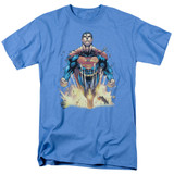 Superman 224 Cover Adult 18/1 T-Shirt Carolina Blue
