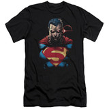 Superman Displeased Adult 30/1 T-Shirt Black