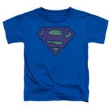 Superman Little Logos Toddler T-Shirt Royal Blue