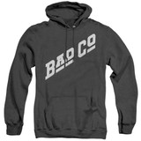 Bad Company Bad Co Logo Adult Heather Hoodie Sweatshirt Black