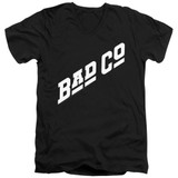Bad Company Bad Co Logo Adult V-Neck T-Shirt Black