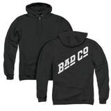 Bad Company Bad Co Logo (Back Print) Adult Zipper Hoodie Sweatshirt Black
